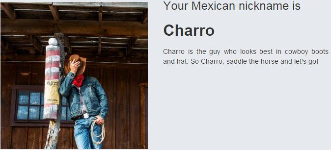 Mexican Nickname